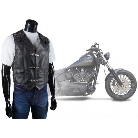 Skórzana kamizelka motocyklowa