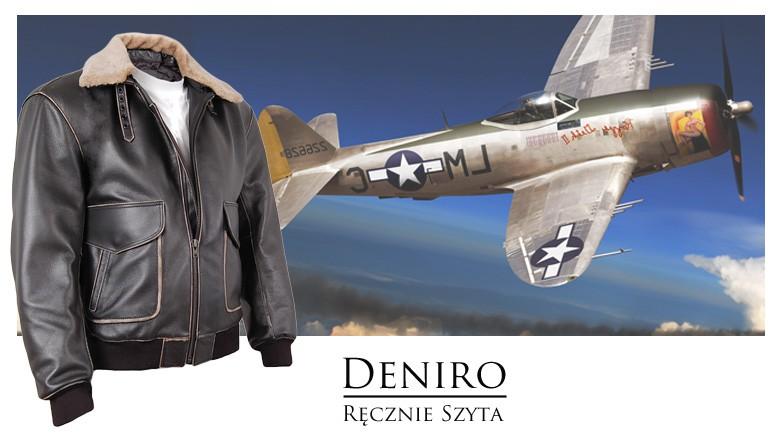 Kurtka pilotka męska skórzana sklep Deniro