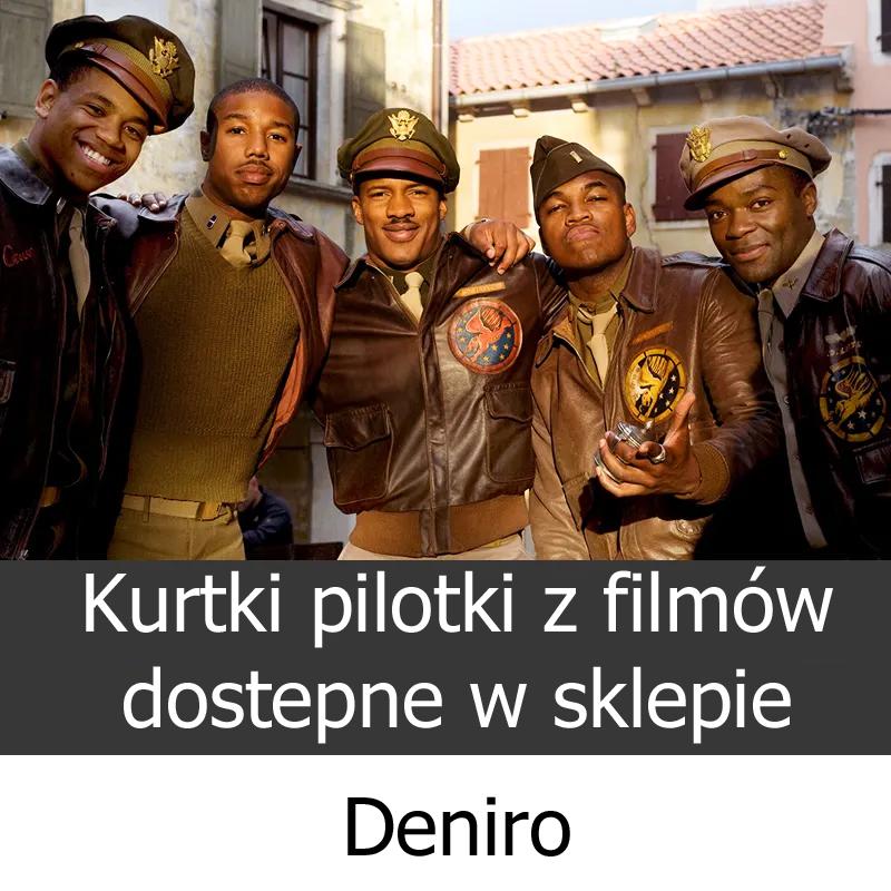 Kurtki pilotki męskie sklep Deniro